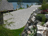 Paver patio and driveway