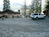Large paver parking space for guests