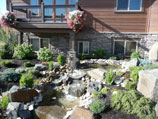 Multiple tiered water feature with fountain and collection ponds