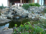 More drystacked retaining walls with water feature